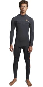 2020 Billabong Mens Furnace Absolute 5/4mm Chest Zip Wetsuit Schwarzen Sand Q45m09