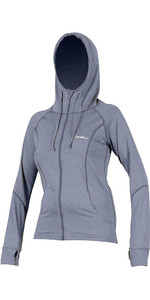 O'Neill Womens Hybrid Long Sleeve Full Zip Rash Hoodie MIST 5054