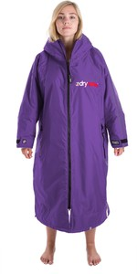 2020 Dryrobe Advance Long Sleeve Premium Outdoor Change Robe / Poncho DR104 - Purple / Grey