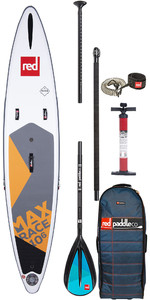 "2020 Red Paddle Co Max Race MSL 10'6 ""x 24"" Aufblasbares Stand Up Paddle Board - Paddelpaket Aus Aluminium"