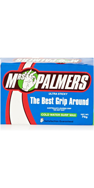 2018 Mrs Palmers COLD Water surf Wax PACCHETTO DI 5
