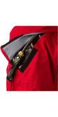 2021 Typhoon Multisport - 4 Vier Drysuit Einschließlich Con Zip & Underfleece Rot / Schwarz 100140