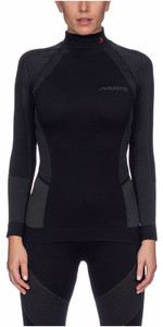 2020 Musto Damen Active Base Layer Top Schwarz Swth001
