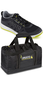 Musto Dynamic Pro Lite Sailing Shoes & Essential Small Holdall Package - Black