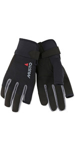 2019 Musto Essential Sailing Long Finger Guantes negro AUGL002