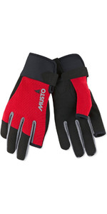 2019 Musto Essential Sailing Long Gants De Doigt Rouge AUGL002
