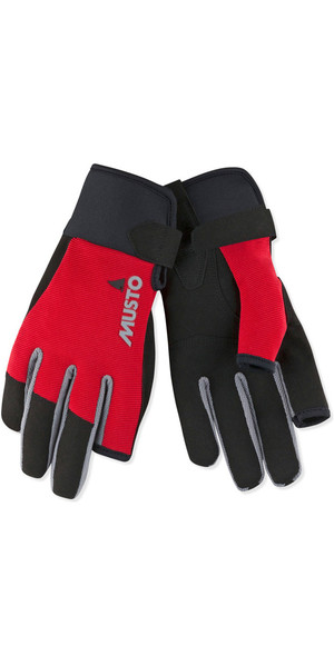 2019 Musto Essential Sailing Long Finger Guantes Rojo AUGL002