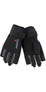 2019 Musto Essential Sailing Short Finger Gloves Sort AUGL003
