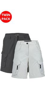 Musto Womens Essential UV Fast Dry Shorts Tilbud Carbon & Platinum Bundle Offer