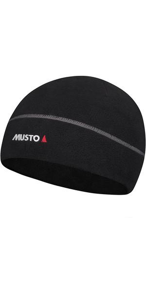 2018 Musto Evolution Microfleece Polartec Cappello Nero AE0121