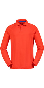 Musto Evolution Sunblock Polo Top Lange Mouw Oranje Se0254