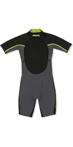 2019 Musto Junior 1.5mm Championship Back Zip Shorty Wetsuit Dark Grey SKWT003