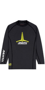 2019 Musto Junior Insignia UV Fast Dry LS T-Shirt Black SKTS012