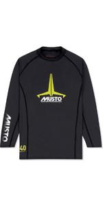 2020 Musto Junior Insignia UV Fast Dry LS T-Shirt Black SKTS012