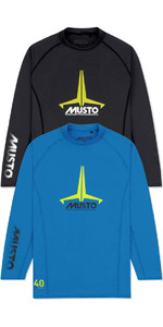 Musto Junior Insignia UV Fast Dry LS T-Shirt Twin Pack Brilliant Blue & Black