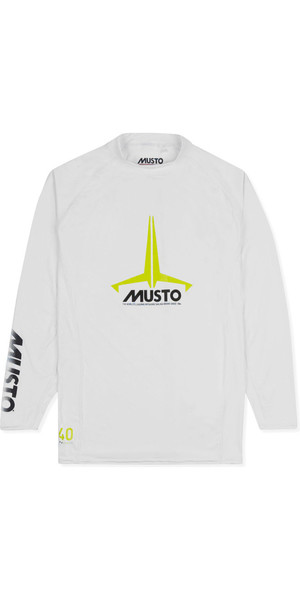 2019 Musto Junior Insignia UV Fast Dry LS T-Shirt White SKTS012