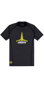 2019 Musto Junior Insignia Uv Schnell Dry Ss T-shirt Schwarz Skts011
