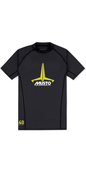 2019 Musto Junior Insignia UV Fast Dry SS T-Shirt Black SKTS011