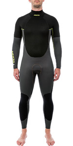 2019 Musto Heren 4/3mm Kampioenschap Back Zip Wetsuit Zwart Smwt005