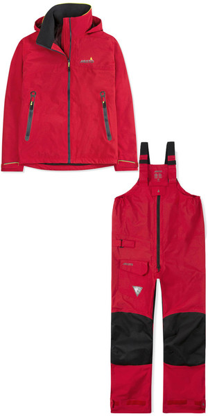 2019 Musto BR1 damesjack SMJK056 & broek SMTR043 combiset True Red