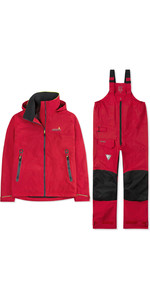 2019 Musto Mens BR1 Inshore Jacket & Trouser Combi Set - True Red
