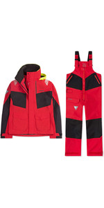 2019 Musto Mens BR2 Coastal Jacket & Trouser Combi Set - Red