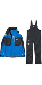 2020 Musto Mens BR2 Offshore Jacket & Trouser Combi Set - Blue / Black