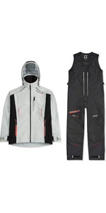 2019 Musto Mens BR2 Sport Jacket & Salopettes Combi Set - Platinum / Black