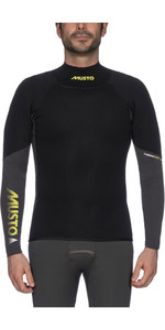 2021 Musto Mens Foiling 1.5mm Thermocool Long Sleeve Top Dark Grey / Black SMTS008