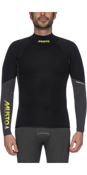 2019 Musto Mens Foiling 1.5mm Thermocool Long Sleeve Top Black SMTS008