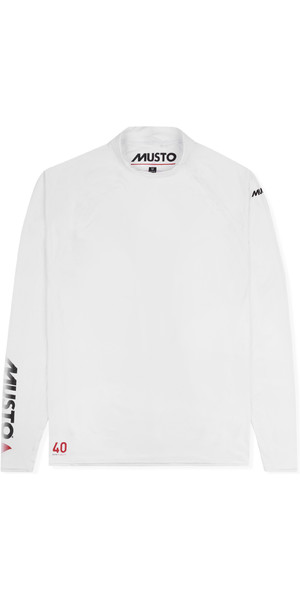 2019 Musto Mens Insignia UV Fast Dry Long Sleeve T-Shirt White SUTS010