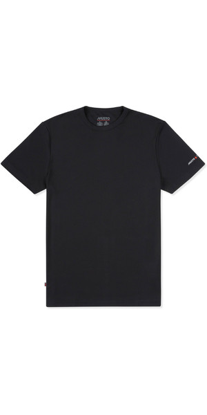 2019 Musto Herre Solskærm Permanent Wicking UPF30 T-Shirt Sort EMTS029
