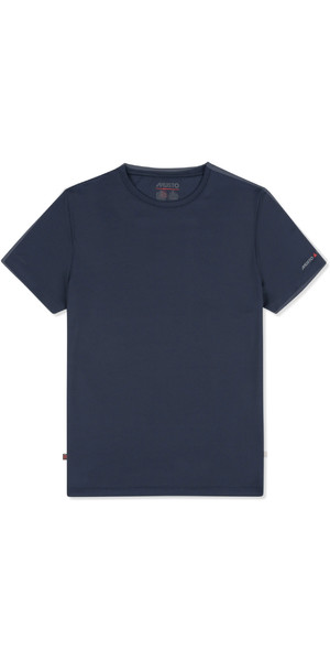 2019 Musto Herre Solskærm Permanent Wicking UPF30 T-Shirt Navy EMTS029