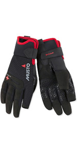 2018 Musto Perfomance Sailing Long Finger Gloves Black AUGL004