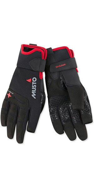 2019 Musto Perfomance Sailing Long Finger Gloves Sort AUGL004