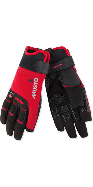 2019 Musto Perfomance Sailing Long Finger Gloves Rojo AUGL004