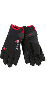 2018 Musto Perfomance Sailing Short Finger Gloves Black AUGL005