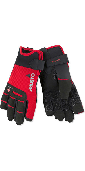 2018 Musto Perfomance Sailing Short Finger Gloves Red AUGL005