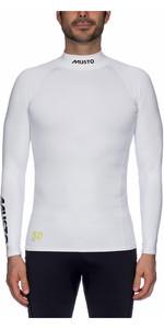 2020 Musto UPF50 Long Sleeve Rash Vest White SUTS003