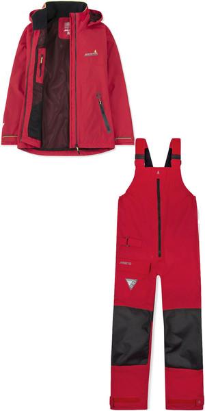 2019 Musto Womens BR1 Inshore Jacket SWJK016 & Trouser SWTR011 Combi Set Red