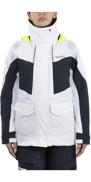 2019 Musto BR2 Coastal jack voor dames wit / marine SWJK015