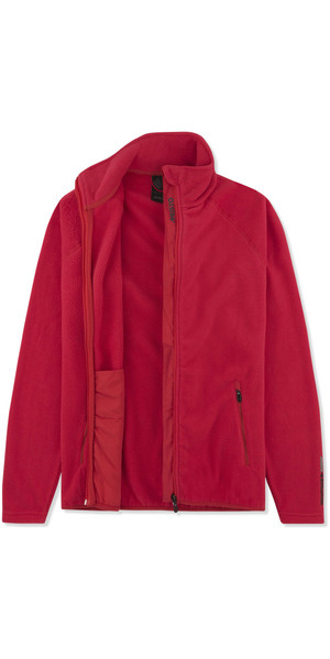 2019 Musto Womens Crew Fleece Jacket Rosso EWFL028