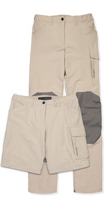 Musto Damen Evolution Performance UV Segelhose & Shorts Light Stone - Regellänge