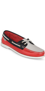 2019 Musto Womens Harbour Mocassino Calzature da ponte True Navy / True Red FWFT002
