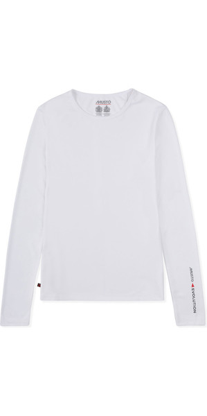 2019 Musto Womens SunShield Permanent Wicking UPF30 Long Sleeve T-shirt White EWTS019