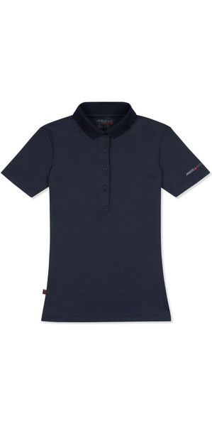 2018 Musto Womens SunShield Permanent Wicking UPF30 Polo Navy EWPS011