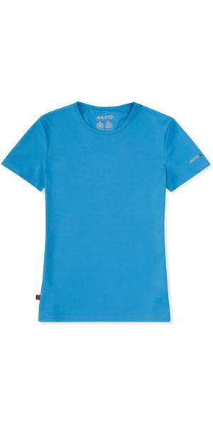 2019 Musto Womens SunShield Permanent Wicking UPF30 T-Short Brilliant Blue EWTS018