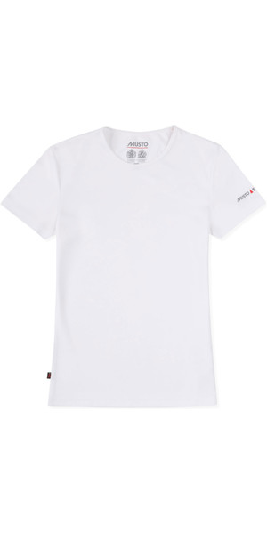 2019 Musto Womens SunShield Permanent Wicking UPF30 T-Shirt White EWTS018