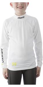 2019 Musto Jugendmeisterschaft LS Rash Vest Weiß SKTS006