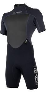 2019 Mystic Brand 3/2mm Back Zip Auf Der Back Zip Shorty Anzug Schwarz 180055